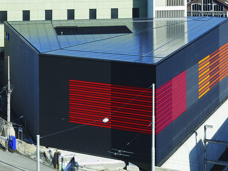 Une sous-station électrique solaire qui rayonne