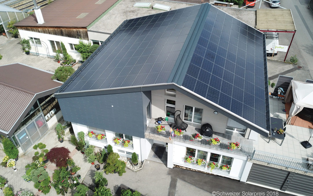 Un toit solaire pour une maison mitoyenne
