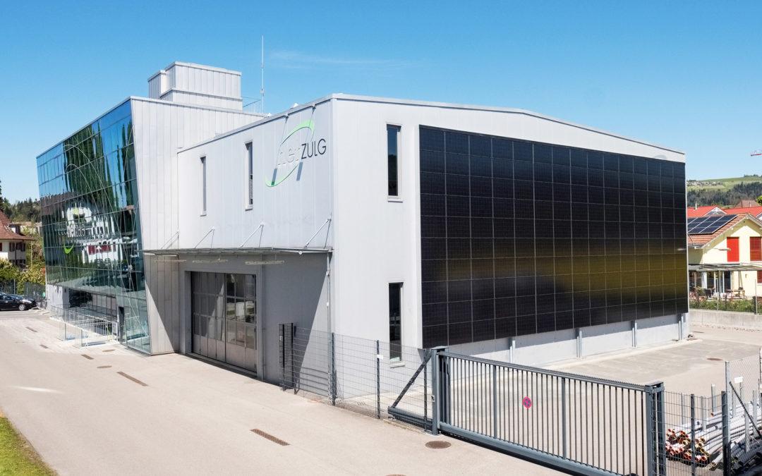 Erste Solarfassade im Versorgungsgebiet der NetZulg AG Steffisburg