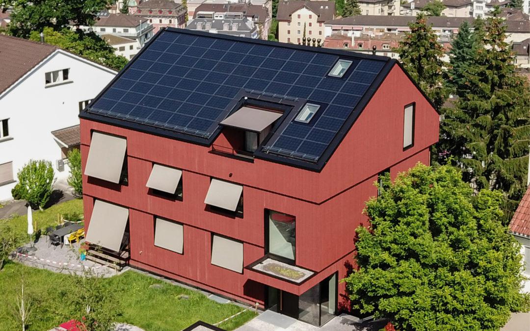 Ost / West-Dach für das Mehrfamilienhaus
